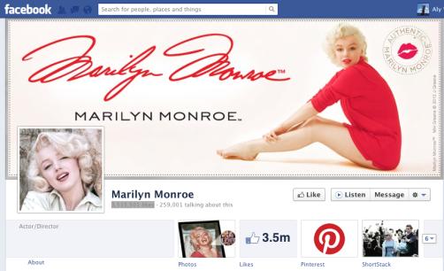 marilyn-monroe-facebook-page